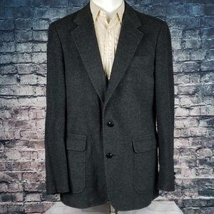Vintage Camelhair Blend Grey Blazer by David Alan